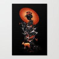 Geisha Nature Canvas Print