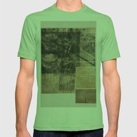 WOOD/PAPER Mens Fitted Tee Grass SMALL