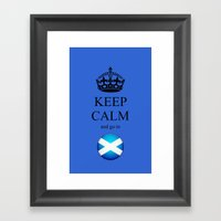 KEEP CALM Scotland Framed Art Print