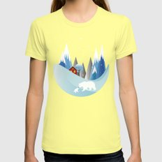 Snowing Boubble Womens Fitted Tee Lemon SMALL