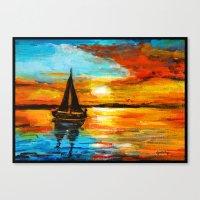 Sunset Sail Canvas Print