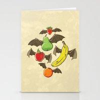 Fruit Bats Stationery Cards