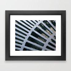 Silver Grate Framed Art Print