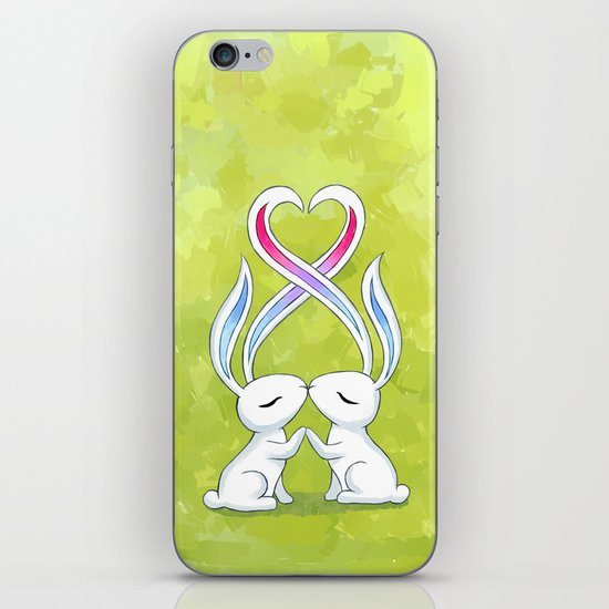 Bunny Kiss iPhone & iPod Skin