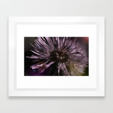 Blow away Dandelion - textured photography Framed Art Print