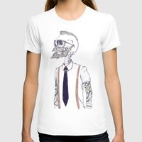 hipster T-shirts featuring The Gentleman becomes a Hipster  by Mike Koubou