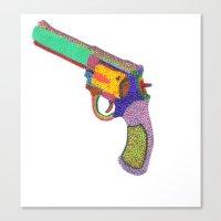 gun shoots color Canvas Print