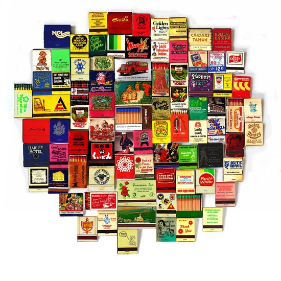 82 Matchbooks Canvas Print