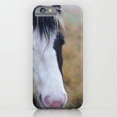 Black and White Horse Portrait iPhone 6s Slim Case