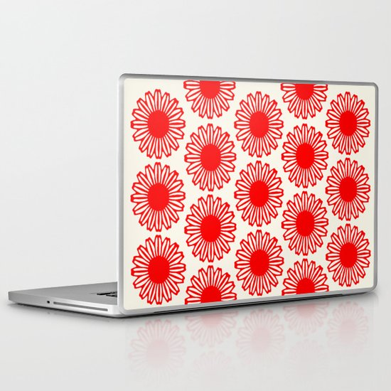 Vintage Flower-Red Laptop & iPad Skin