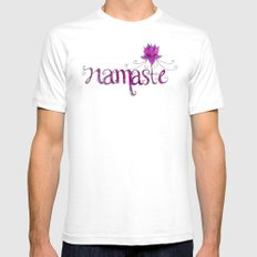 Namaste Mens Fitted Tee White SMALL