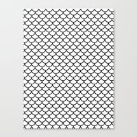 Simple Scales Canvas Print