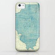 Illinois Map Blue Vintag… iPhone 5c Slim Case