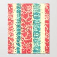 Lace Columns Canvas Print