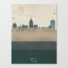 fresno california skyline Canvas Print