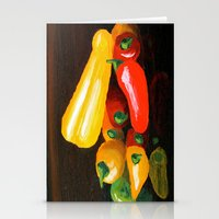 Peppers From a Friend, the painting Stationery Cards