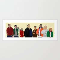 Characters - Modern Outf… Art Print