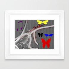flight of the butterfly Framed Art Print