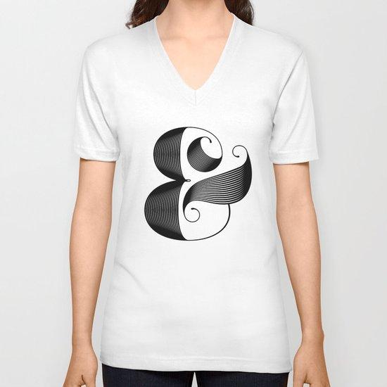 Ampersand V-neck T-shirt