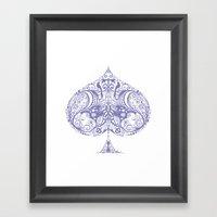 Thistle Spade Framed Art Print