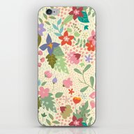 iPhone & iPod Skin featuring Retro Floral Pattern by Vero Gobet