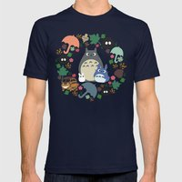 Troll Wreath  Mens Fitted Tee Navy SMALL