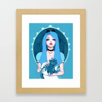 Alice Wore Blue Framed Art Print
