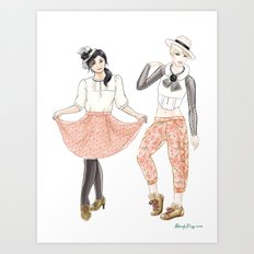 Fashion Journal: Day 2 Art Print