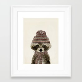 Framed Art Print - little indy raccoon - bri.buckley