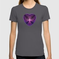 Purple Heart Womens Fitted Tee Asphalt SMALL