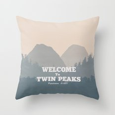 Welcome to Twin Peaks v2 Throw Pillow