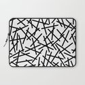 Kerpluk Black on White Laptop Sleeve