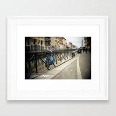 Milano Navigli Bike Framed Art Print