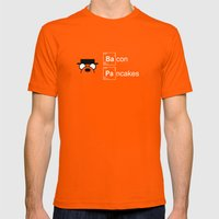 Making Bacon Pancakes Mens Fitted Tee Orange SMALL