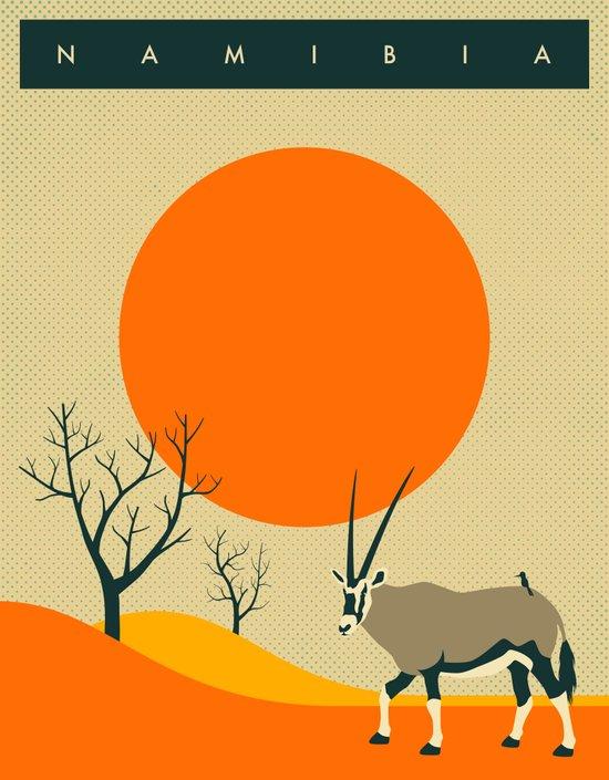 NAMIBIA Travel Poster Art Print