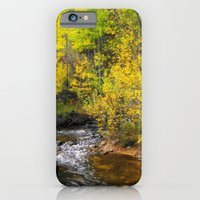 iPhone & iPod Case featuring North Fork of the Big Thompson in Autumn by Jennifer L. Craft