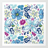 Fling Flowers Art Print