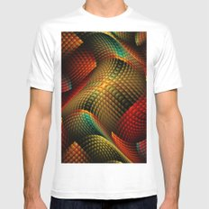 Bed of Snakes Mens Fitted Tee White SMALL