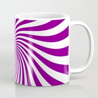 Swirl (Purple/White) Mug