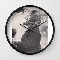 Human Water Fountain Wall Clock