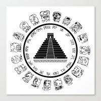 The Maya Calendar - Digital Work Canvas Print