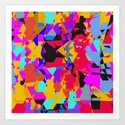 color chaos Art Print