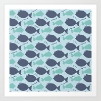 Fishies Art Print