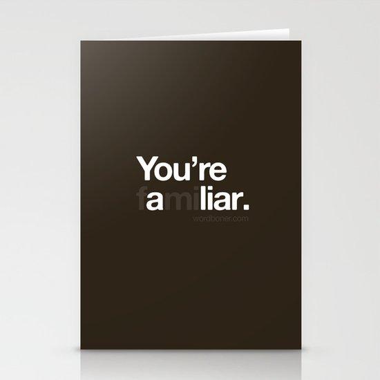 Liar Stationery Card