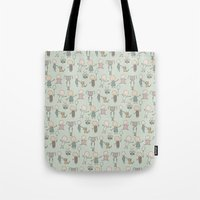 Children Playing-on Mint Tote Bag