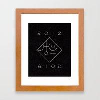 Uranus Square Pluto Framed Art Print