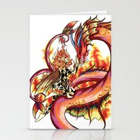 Elemental series - Fire Stationery Cards