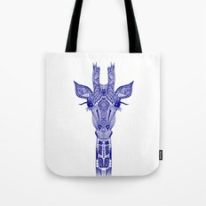 GIRAFFE BLUE Tote Bag