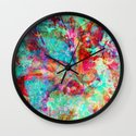 abstract orchid Wall Clock