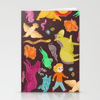 Jumping Stationery Cards